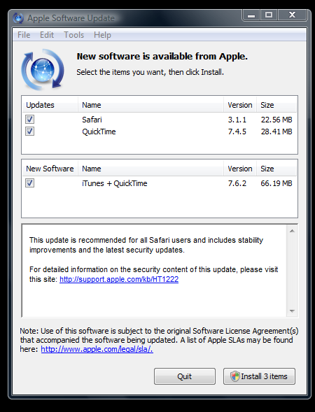 Apple Software Update Fixes Mozilla Objection